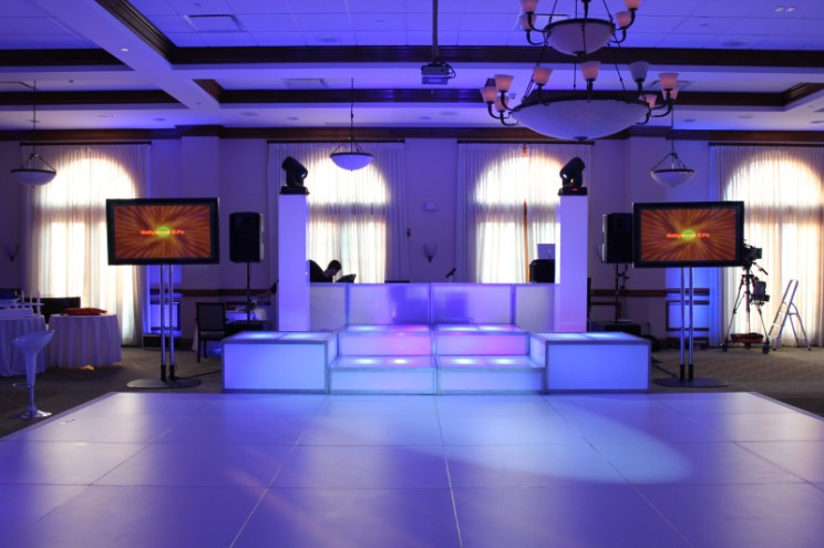 white dance floor speciality lighting