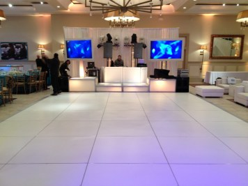 modular white dance floor