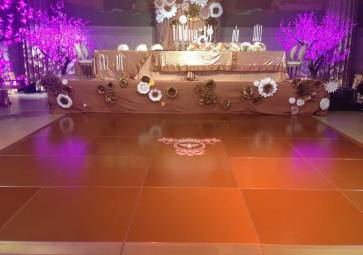 bronze color dance floor