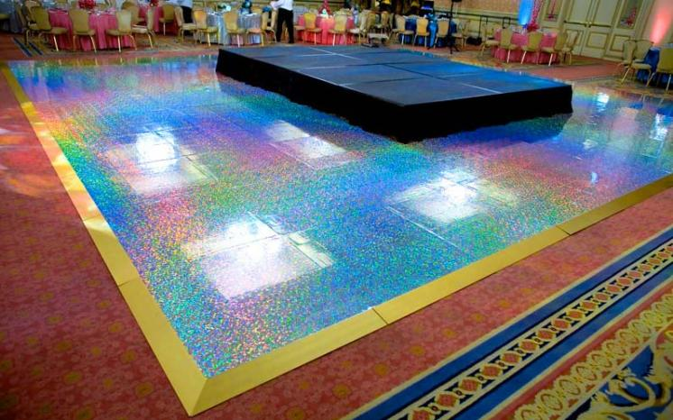 Dotted-pattern-holographic-dance-floor
