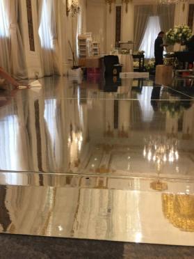 Mirrored-dance-floor