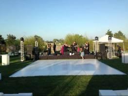 outdoor dance floor on grass