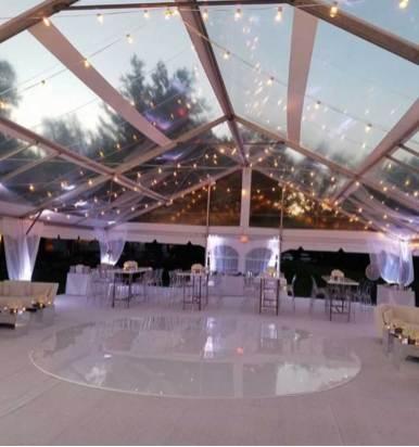 White Round Acrylic Dance Floor