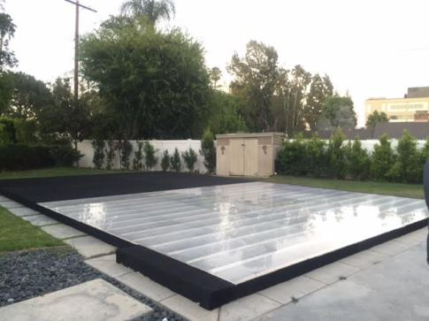 Dance Floor Pool Cover Rental Plexi Glass Acrylic Hard