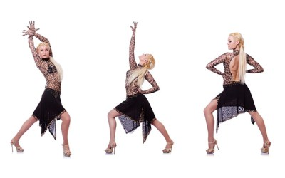 Lady styling solo Latino Jazz