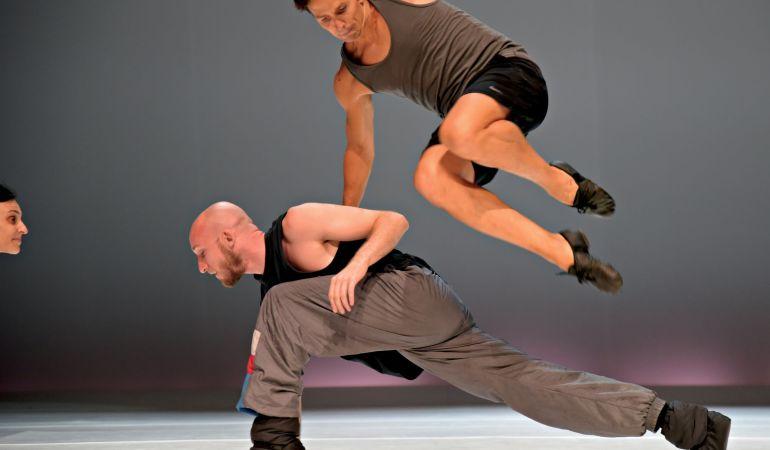 Guillaume Côté and Matt Foley in rehearsal for Côté's Crypto  Photo: Jean-François Dessacs