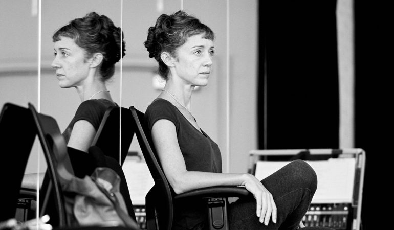 Cathy Marston in rehearsal  Photo: Sasha Onyshchenko, courtesy of Les Grands Ballets Canadiens de Montréal