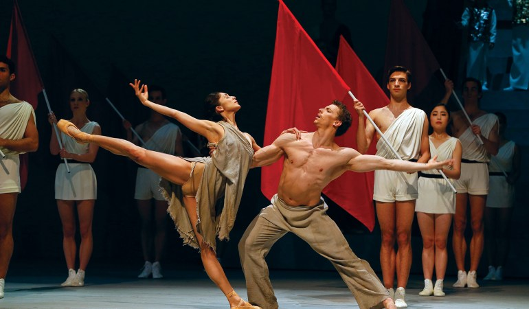 Robyn Hendricks and Kevin Jackson in Australian Ballet's Spartacus Photo: Jeff Busby