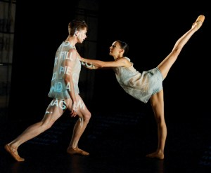 Myriam Simon and Louis Stiens in Martino Müller's R.A.M., presented as part of Skizzen | Photo: Stuttgart Ballet