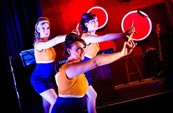 Dancers Monica Wessing, Alice Wagstaff and Kirsty Duncan perform in 'Soul Night at the Cinnamon Lounge.' Photo by Ryan Crowley.