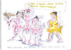 dance social media cartoon by Mike Howell