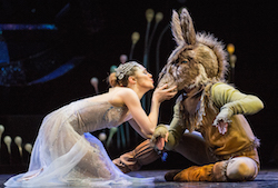 Royal New Zealand Ballet dancers Tonia Looker and Harry Skinner in 'A Midsummer Night's Dream'
