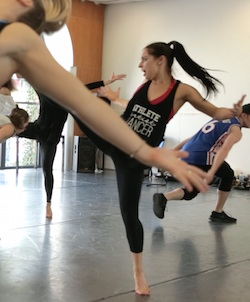 Cat Santos in rehearsal with The Dream Dance Company. Photo courtesy of Dream Dance Co.