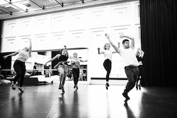 'American Idiot' in rehearsal, with choreographer Lucas Newland. Photo courtesy of Newland.