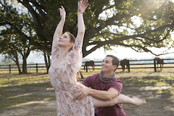 Xenia Goodwin and Thomas Lacey. Photo courtesy of 'Dance Academy'.
