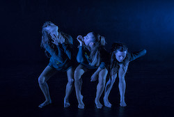 Allie Graham, Jennifer Horvath and Kristie Pike in Limitless Dance Company's 'SE7EN'. Photo by Peter Sharp.