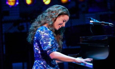 'Beautiful The Carole King Musical', with Chilina Kennedy as Carole King in the Broadway cast. Photo by Joan Marcus.
