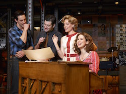 The Broadway cast of 'Beautiful The Carole King Musical'. Photo by Zachary Maxwell Sterz.