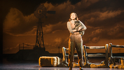 Sarah Lasko as Dorothy and Nigel as Toto in 'Over the Rainbow'. Photo by Daniel A. Swalec.