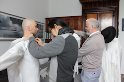 'EVER' costume fittings with Phillip Adams and Akira Isogawa. Photo courtesy of BalletLab.