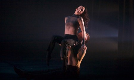 'Propel', featuring Alana Sargent and Jake McLarnon, with costumes by Sargent. Photo by Fiona Cullen.