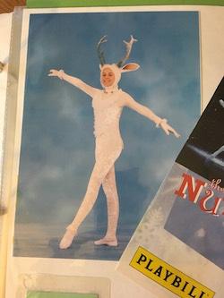 Sam Govoni as a Reindeer in Boston Ballet's 'The Nutcracker'. Photo courtesy of Govoni.