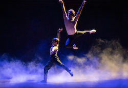River Mardesic and Aaron Smyth in 'Billy Elliot the Musical'. Photo by James D. Morgan.