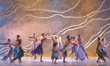 Bangarra Dance Theatre in 'Terrain'. Photo by Jeff Busby.