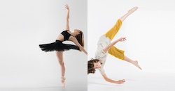 New Zealand School of Dance students Rebekah Terry and Caspar Ilschner. Photo by Stephen A'Court.