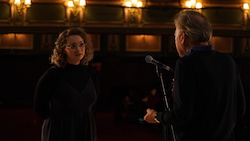 Carrie Hope Fletcher and Andrew Lloyd Webber. Photo by The Really Useful Group.