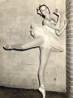Tanya Pearson as a professional dancer.