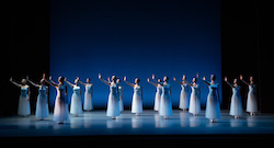 The Australian Ballet in George Balanchine's 'Serenade'. Photo by Daniel Boud.