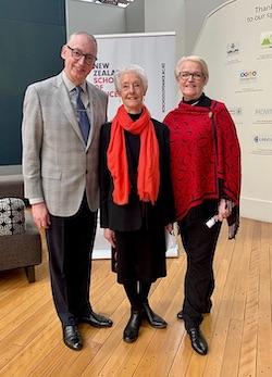 NZSD Director Garry Trinder, Anne Rowse and Christine Gunn.