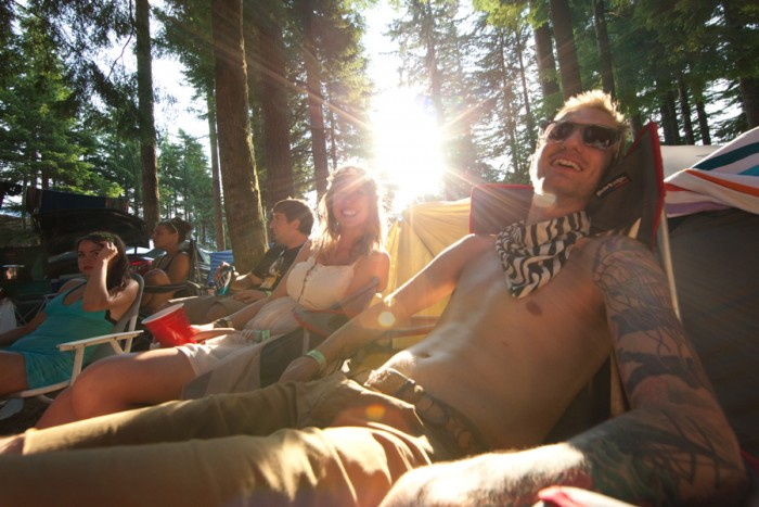 summer meltdown festival camping people smiles