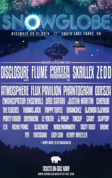 SnowGlobe 2014 Phase 1 Lineup