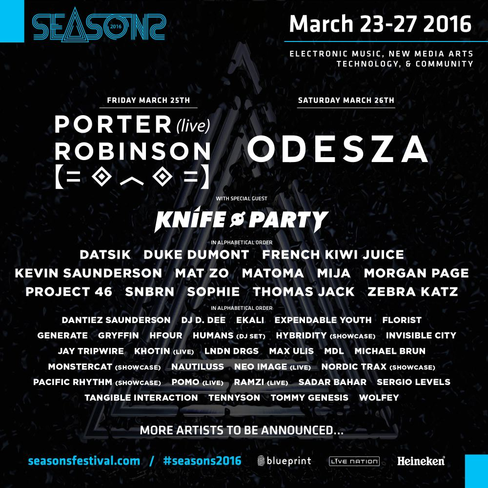 Blueprint announces stellar lineup for seasons festival 2016 seasons festival 2016 vancouver malvernweather Images