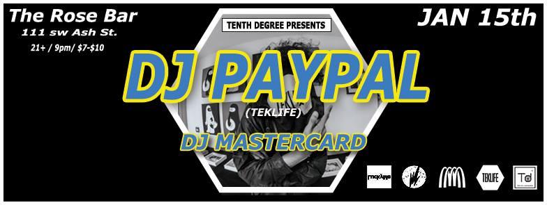 Tenth Degree Portland Rose Bar DJ Paypal