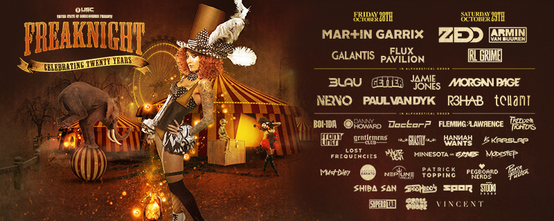 FreakNight 2016 Full Lineup