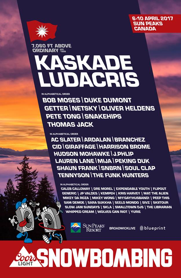 snowbombing 2017 canada lineup