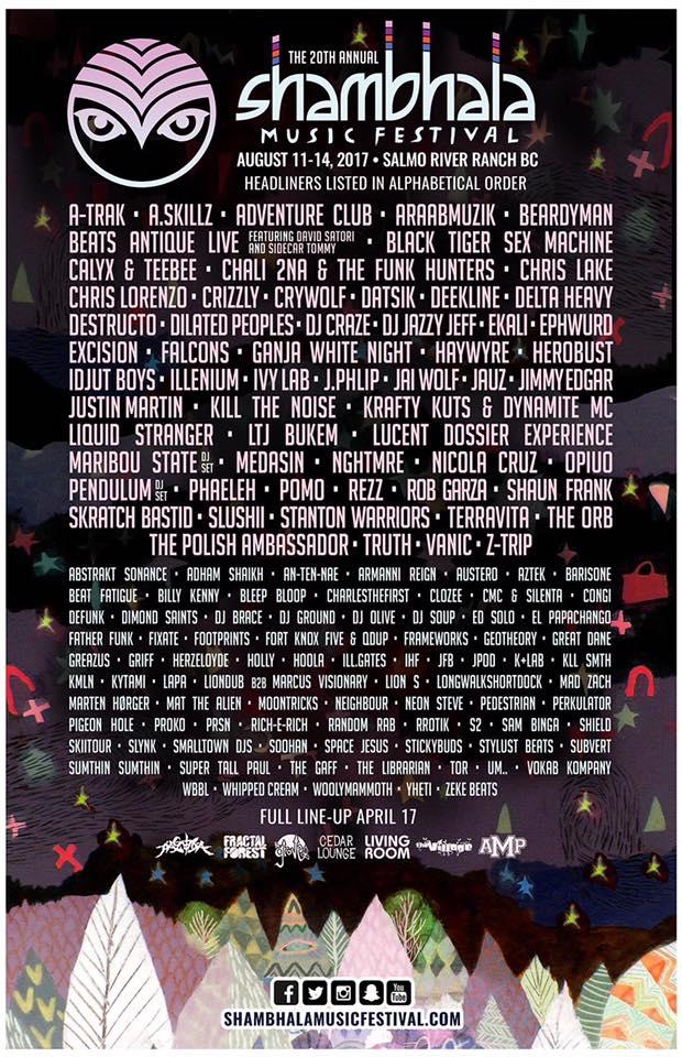 shambhala 2017 lineup