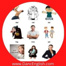 sustantivos de 1 silaba que nombran personas con sonido corto a