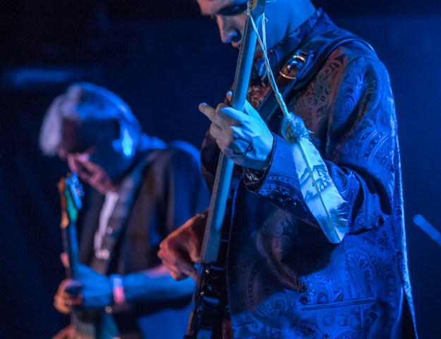 Lunar Chiefs Dylan Barnes, bass, and Ronnie Barnes, guitar (Photo by Johnny Nevin)
