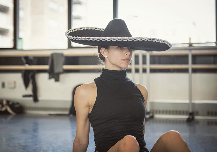 "Ballet Hispánico's Diana Winfree in rehearsal for Michelle Manzanales' ""Con Brazos Abiertos"" (Photo by Alona Cohen)"