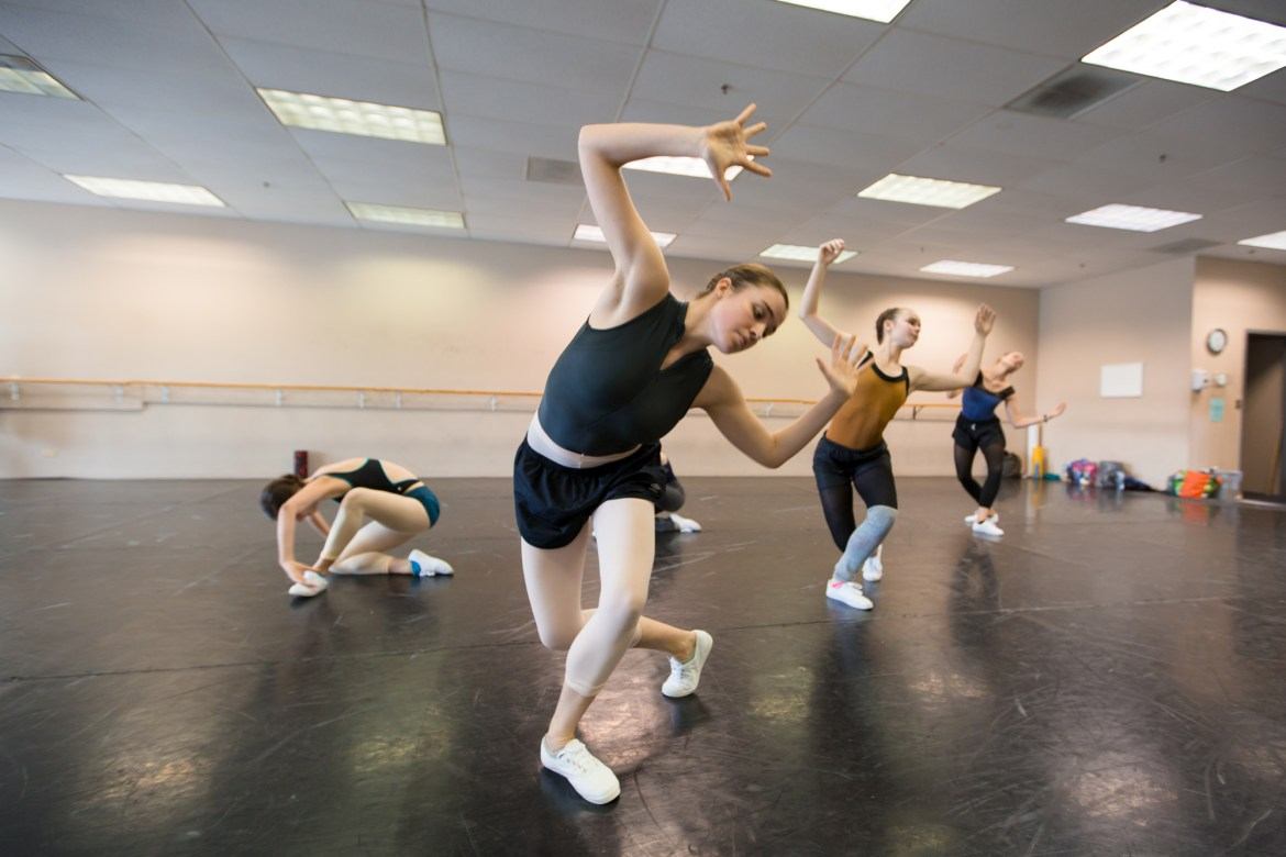 """Ballet 5:8 Rehearsing """"Strangers and Angels"""" (Photo courtesy of Ballet 5:8)"""