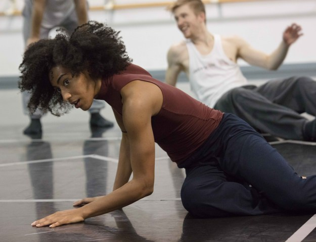 "Hubbard Street Dance Chicago and HS Pro in rehearsal for Rena Butler's ""III. Third"" (Photo by Henry Trinh)"