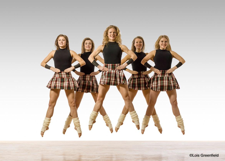 Trinity Irish Dance Company - Erin Gradus, Sierra McNall, Chelsea Hoy, Maggie Doyle, Marissa Wurster (Photo by Lois Greenfield Dance)