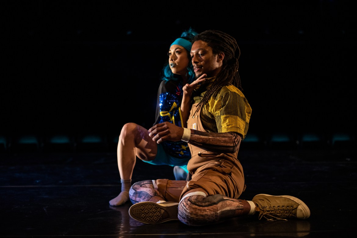 "Kristi Licera and Elijah Motley in Chicago Dance Crash's ""Lil Pine Nut"" (Photo by Ashley Deran)"