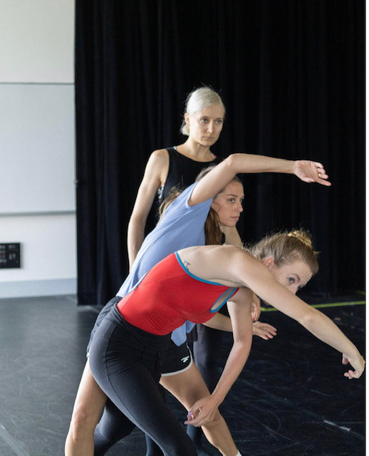 Rehearsal for Jacqueline Stewart's Mosaic 85 for Dancing to Dream (Photo by Doug McGoldrick)