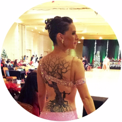 ballroom dance blogger Katie Flashner