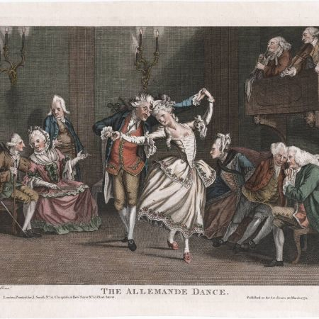 the allemande was a partner dance in 1776